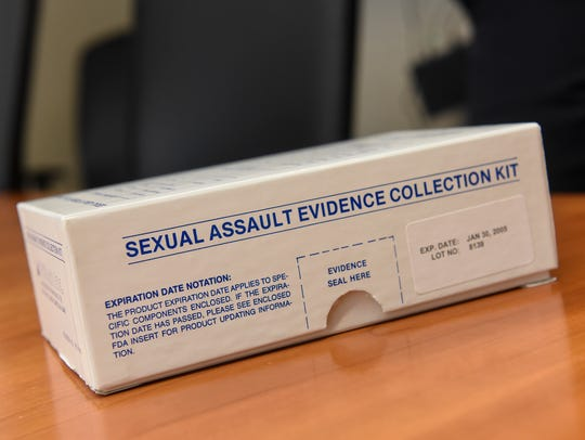 Sexual assault kit ready to be sent for testing.