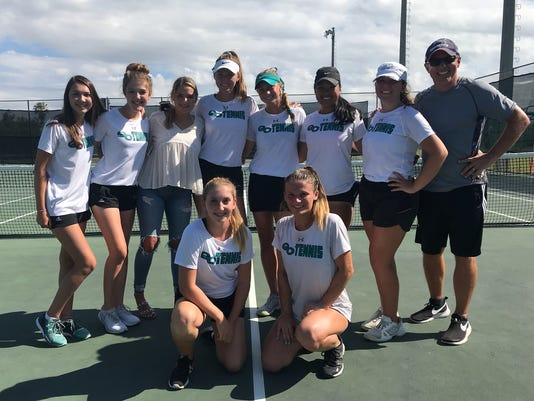 Gulf Coast girls tennis 2018