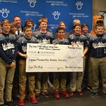 The Red Land Little League team raised more than $24,400 to combat cancer. The Little League World Series U.S. champion team presented $18,200 to Four Diamonds at Penn State Hershey Children's Hospital, and gave $6,293.17 to the national Vs. Cancer Foundation for research.