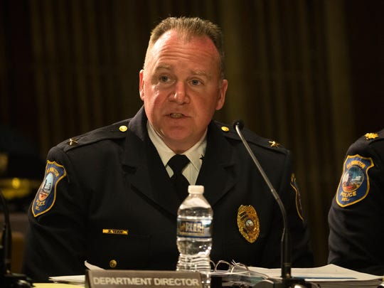 Wilmington Police Chief Robert Tracy speaks during