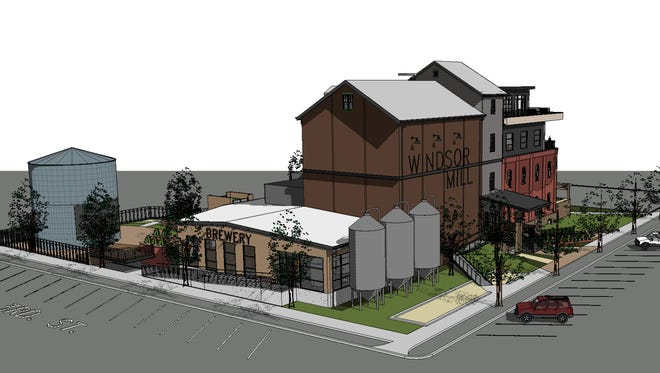 A concept drawing shows Blue Ocean's plans for the Windsor Mill.