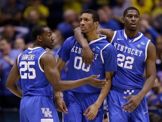 AP NCAA Kentucky Michigan Basketball