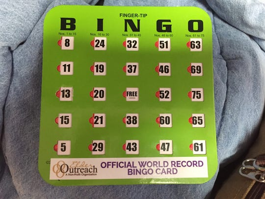 Participants used bingo cards like this one to attempt