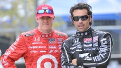 IndyCar Series drivers Scott Dixon, left, and Dario