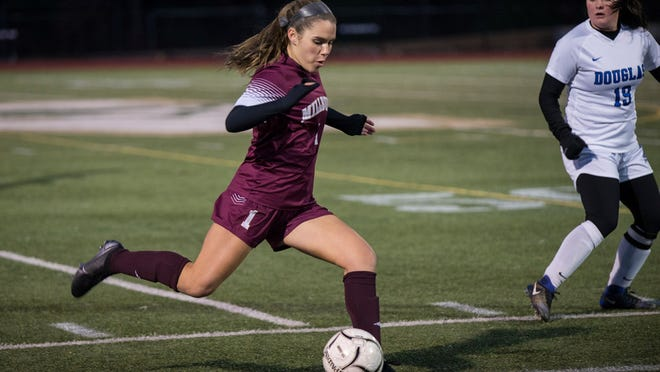Millbury's Jackie Gilbert scored 10 goals as a sophomore during last year's state championship season.