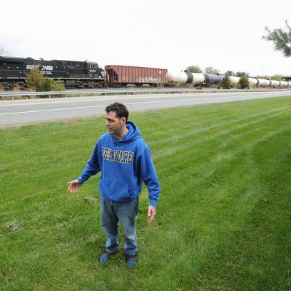Evan Grabowski, of Bear Crossing, on April 25 stands