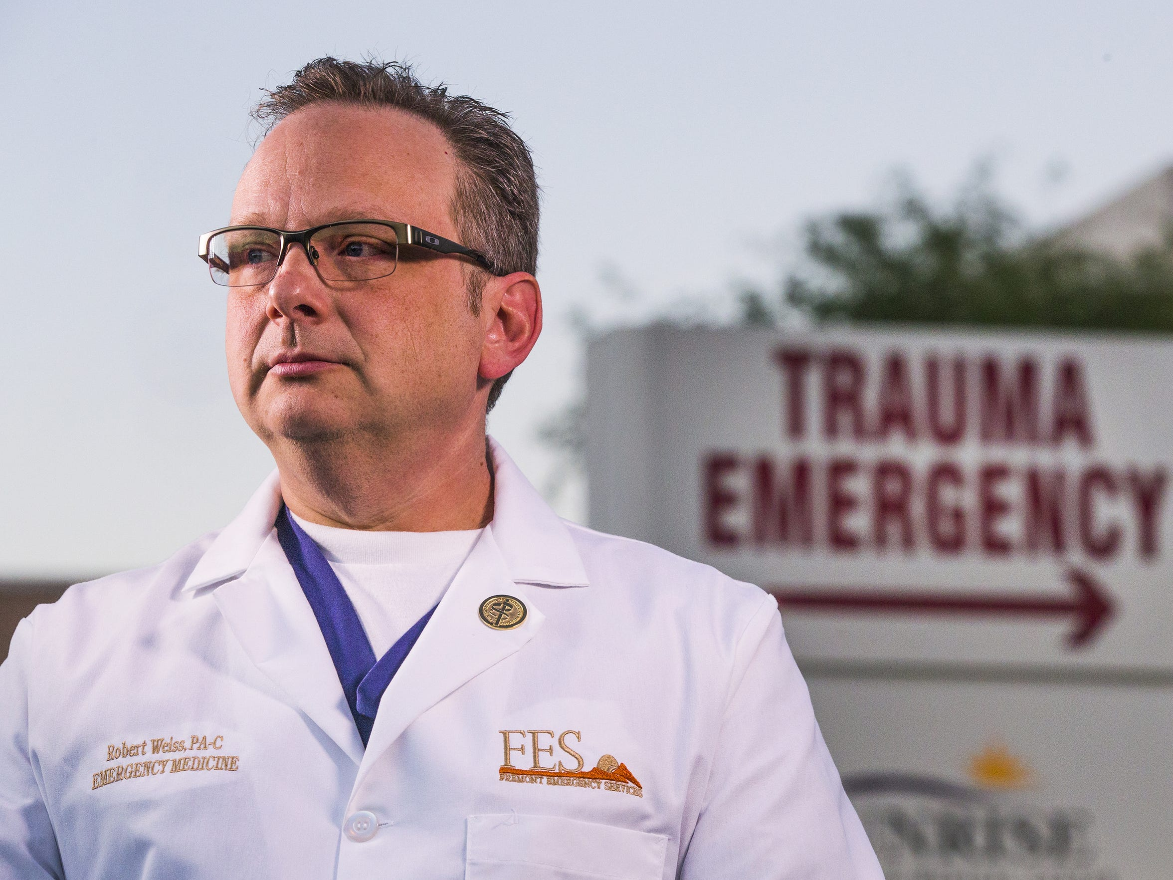 Physician's assistant Robert Weiss was attending the Route 91 Harvest festival with his wife, Beth, when the gunfire began.