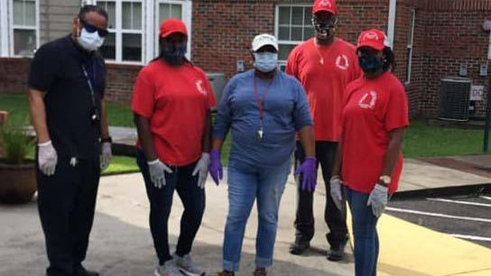 Vision Forward and several groups from the New Bern Area recently assisted some residents in the Craven, Jones and Pamlico counties during this pandemic (Covid-19). The group is pictured delivering goods at Noah Assistant Living in the Derby Park Community. Approximately 100 residents were served.