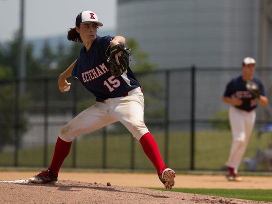 Ryan Murphy pitches for Roy C. Ketcham in the Class