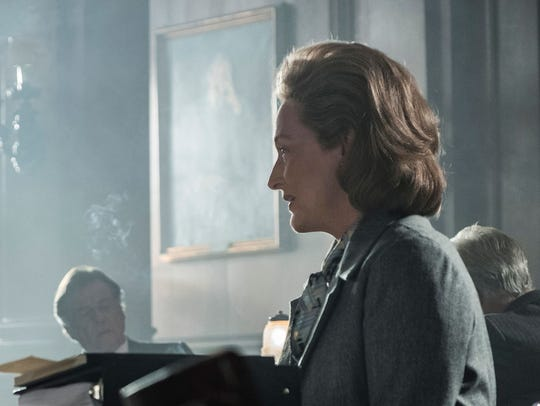 "Tom Hanks and Meryl Streep in ""The Post."""