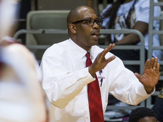 Prattville coach Earl Taylor coaches against Central-Phenix