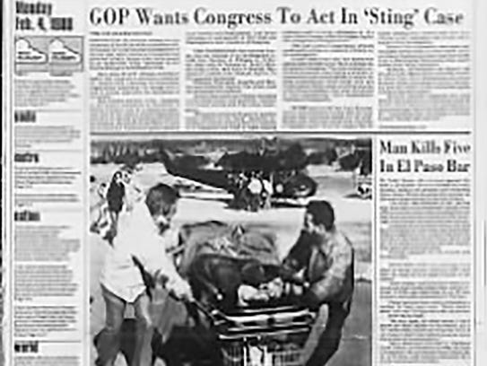 The Feb. 4, 1980, front page of The Cincinnati Enquirer