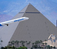An Allegiant Air jet takes off from Las Vegas' McCarran International Airport on May 9, 2013.