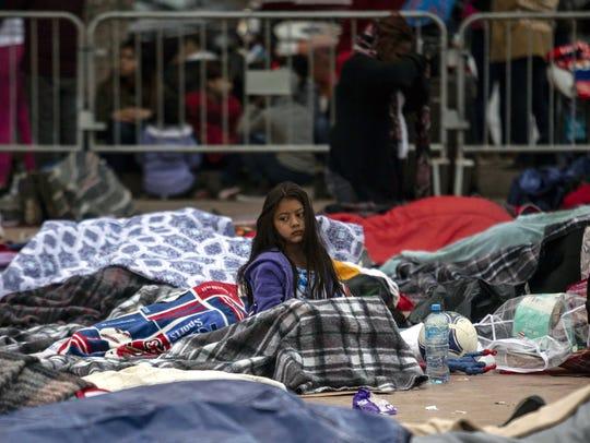 Una caravana de unos 130 migrantes centroamericanos,