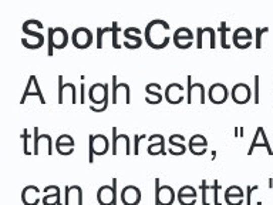 ESPN's Original Tweet