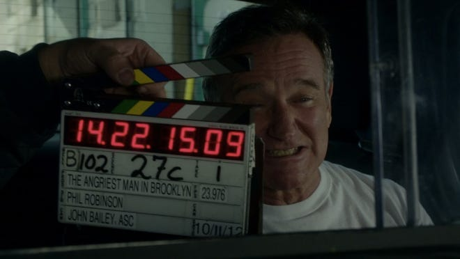 Robin Williams appears in an outtake from the dramatic comedy 'The Angriest Man in Brooklyn.'