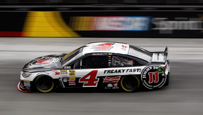 Kevin Harvick drives during qualifying for the NASCAR Sprint Cup series auto race at Bristol Motor Speedway on Friday in Bristol, Tenn. Harvick will start on the pole.