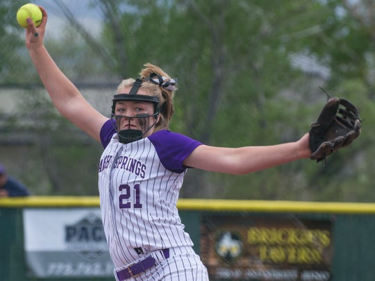 Spanish Springs pitcher Tyra Clary throws against Douglas in the NIAA 4A Northern Regional Softball Championship at Bishop Manogue on Saturday.