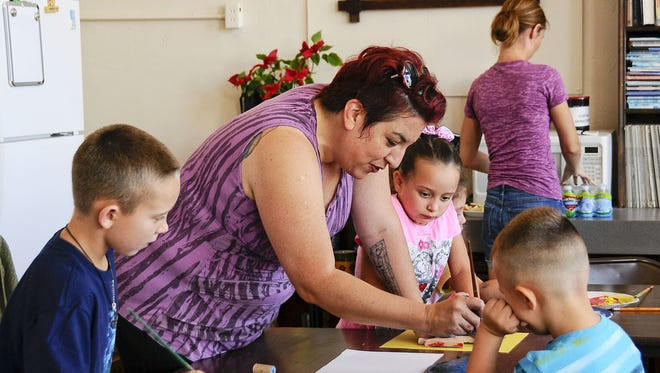 Art teacher Megan Lemcke is working with Deming children enrolled in the Kids Summer Program at the Deming Arts Center. The classes are art instruction by Lemcke and have drawn a full-house for each class. The program is sponsored by the Deming Arts Council at the DAC, 100 S. Gold  St.