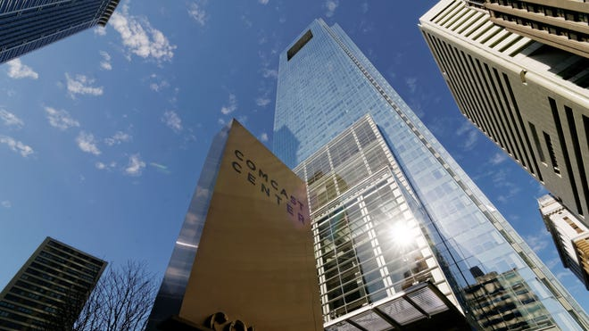 A general view of the corporate headquarters of Comcast in downtown Philadelphia on Feb. 23, 2014.
