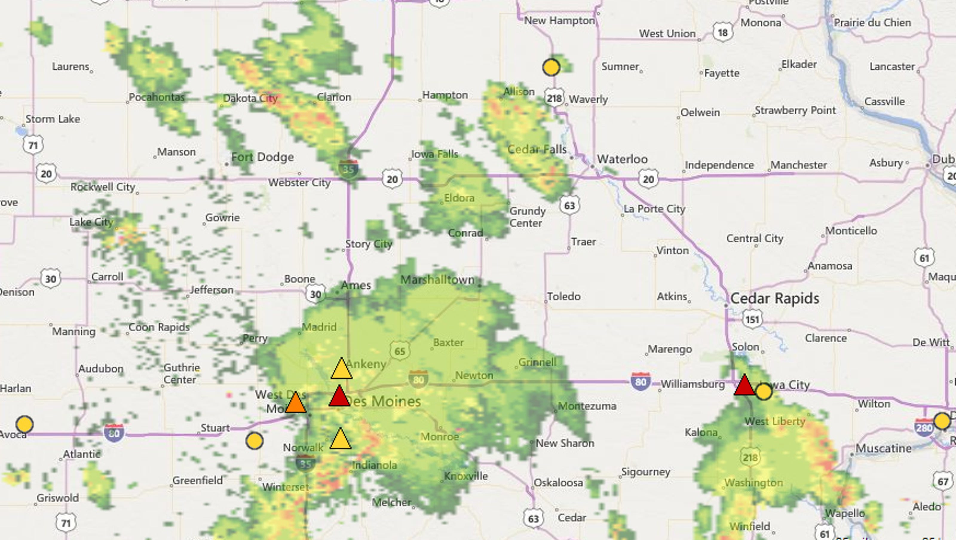 Power Outages Reported In Iowa City Coralville