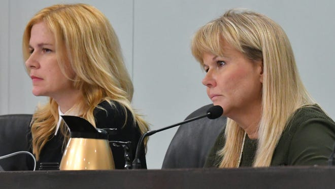 District 5 Commissioner Kristine Isnardi, left, is the new vice chair and District 1 Commission Rita Pritchett is the new chair of the Brevard County Commission.