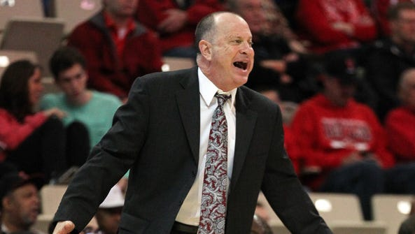 Arkansas State coach John Brady yells from the sideline