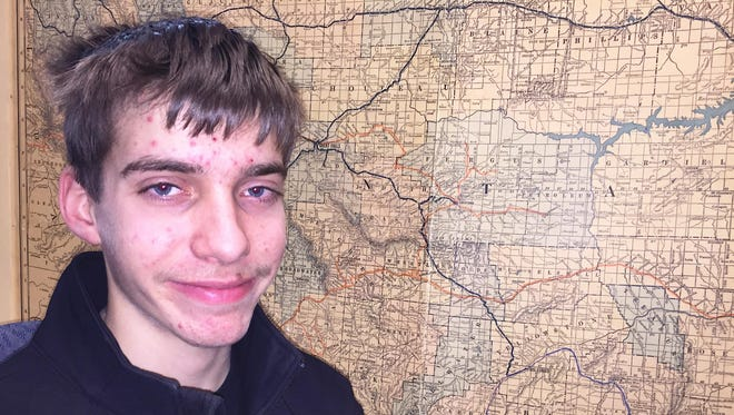 Tristan Williams, 15, was exploring with his brothers when he stumbled upon a human skull.