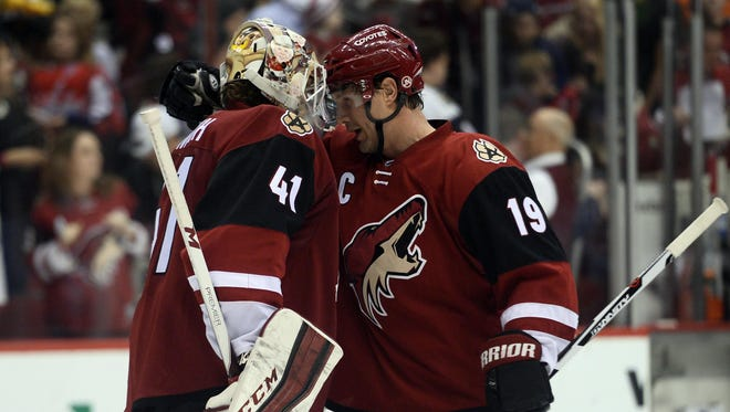 The Coyotes' 20th season in the Valley will begin Oct.15 at Gila River Arena against the Flyers with the 82-game schedule wrapping April 8 at home against the Wild.