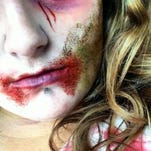 Signora Sara Serpentina haunts the Haunted Farm of Terror in Lenox Township.