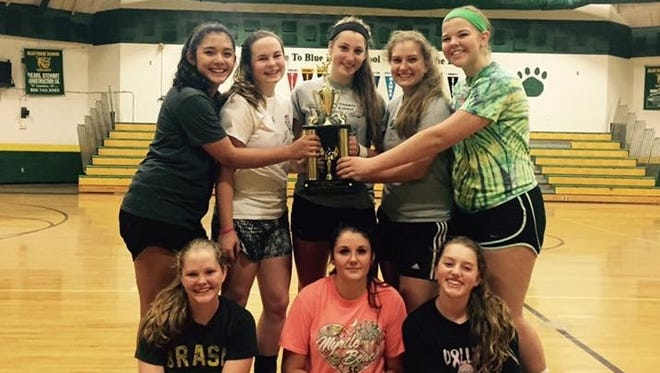 The Blue Ridge volleyball team.