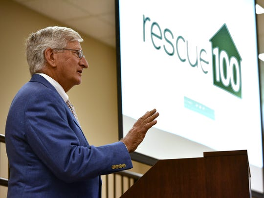 Child Protection Services Director Dr. David Chandler speaks at a Rescue 100 Vision meeting Friday at the Gartin Justice Building Jackson.