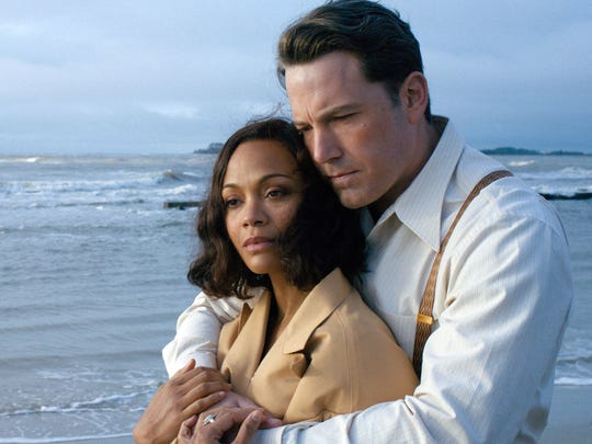 """Zoe Saldana and Ben Affleck have a moment in """"Live By Night."""""""