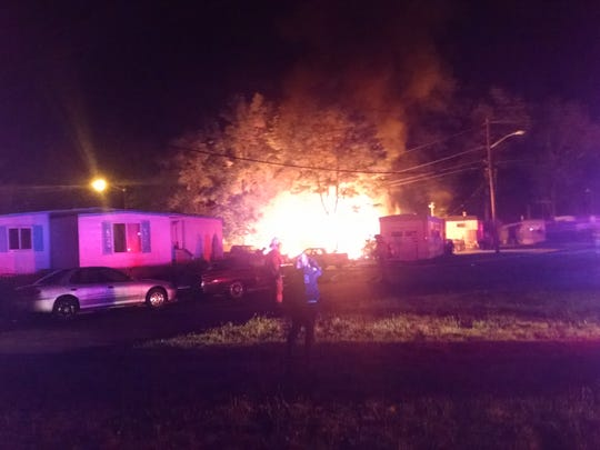 Mobile homes damaged in S  Brunswick trailer-park fire