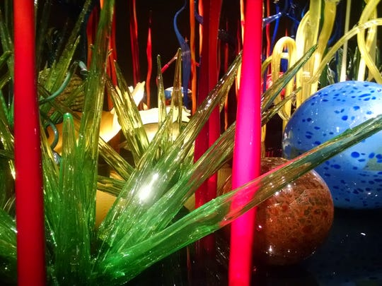 Sculpture by the artist, Chihuly, who will soon be