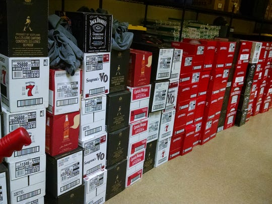 More than 120 cases of various brands of liquor valued at approximately $19,500 were seized from the 2014 Ford E-350 XLT Super Duty passenger van  he was in.