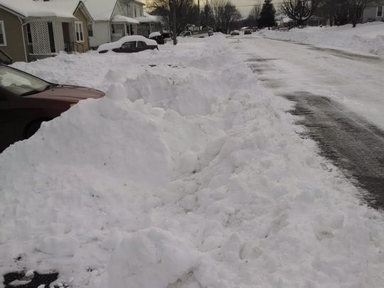 Taken after the second plow through Sherwood Avenue