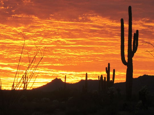 A dramatic sunset from Tonto National Forest.
