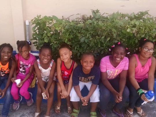 Some of Julia Davidson's friends from her stay in Jamaica.