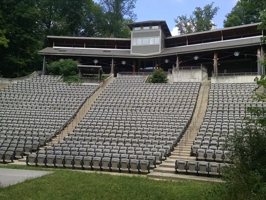 A 1,700 seat amphitheater sits vacant off Ohio 603,
