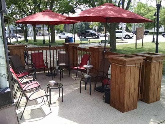 The Patio at Pam's Fine Wines, 100 Main Street in Mukwonago.