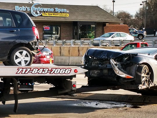 Crash at Route 30 and the Susquehanna Trail Sunday Sunday.