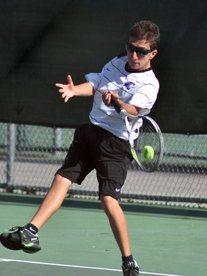 Wilson Central's Michael Mercante advanced to the Class AAA state singles tennis tournament this year. The sophomore is 5-foot and weighs 98 pounds.