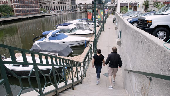 The RiverWalk: It may soon be extended into the Menomonee