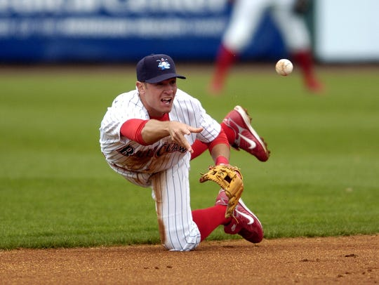 In this 2008 photo, Lakewood BlueClaws second baseman
