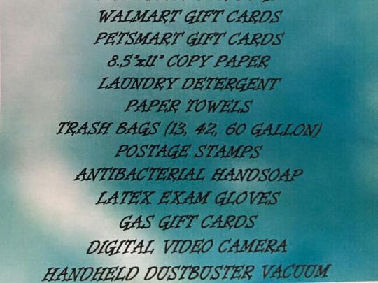 A list of the most used and needed items for the Humane Society of Lebanon County.