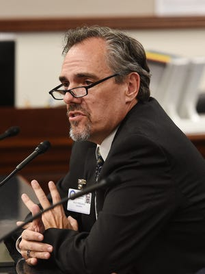 Dale Erquiaga testifies before the State Legislature in the spring of 2015, trying to sell Gov. Brian Sandoval's plan greatly increasing education funding.