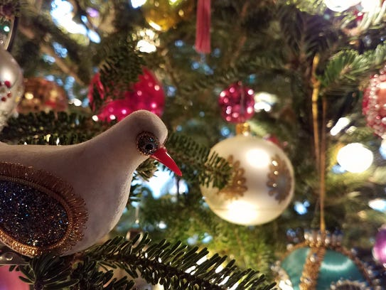 Michael McKinley collects vintage ornaments for his