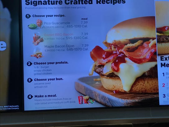 "McDonald's new ""Signature Crafted Recipes"" include"