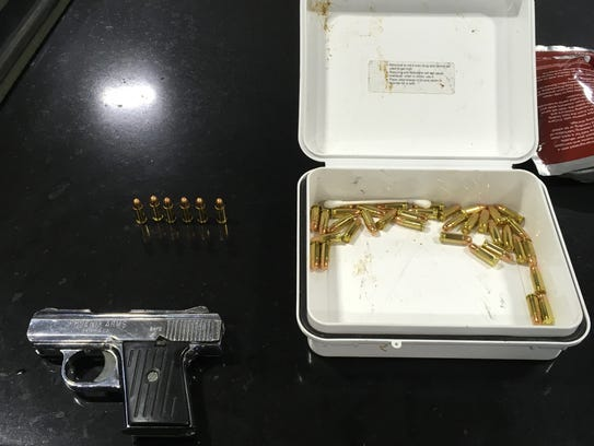 Paul Ramos, 27, of Oxnard, was arrested June 12 on suspicion of firearm and narcotics offenses after a traffic stop.